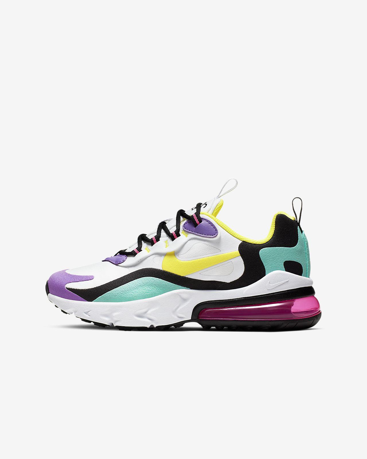 release date: 6828b b15a1 Nike Air Max 270 React-sko til store børn