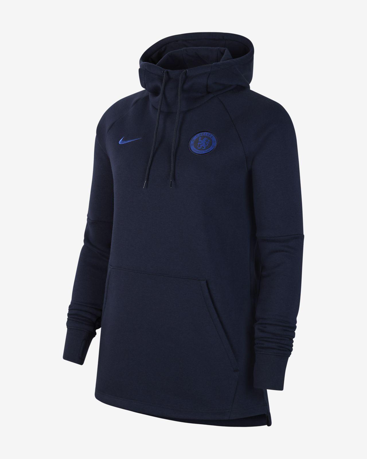 Chelsea FC-pullover-hættetrøje i fleece til kvinder