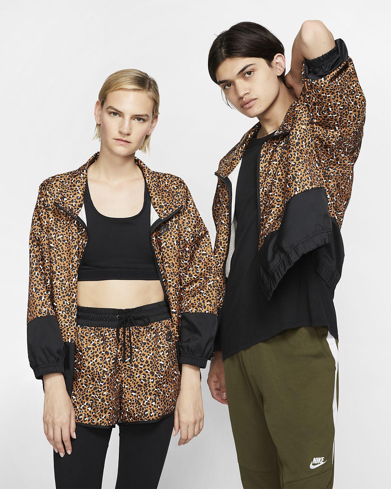 Nike Sportswear Animal Print Dokuma Ceket