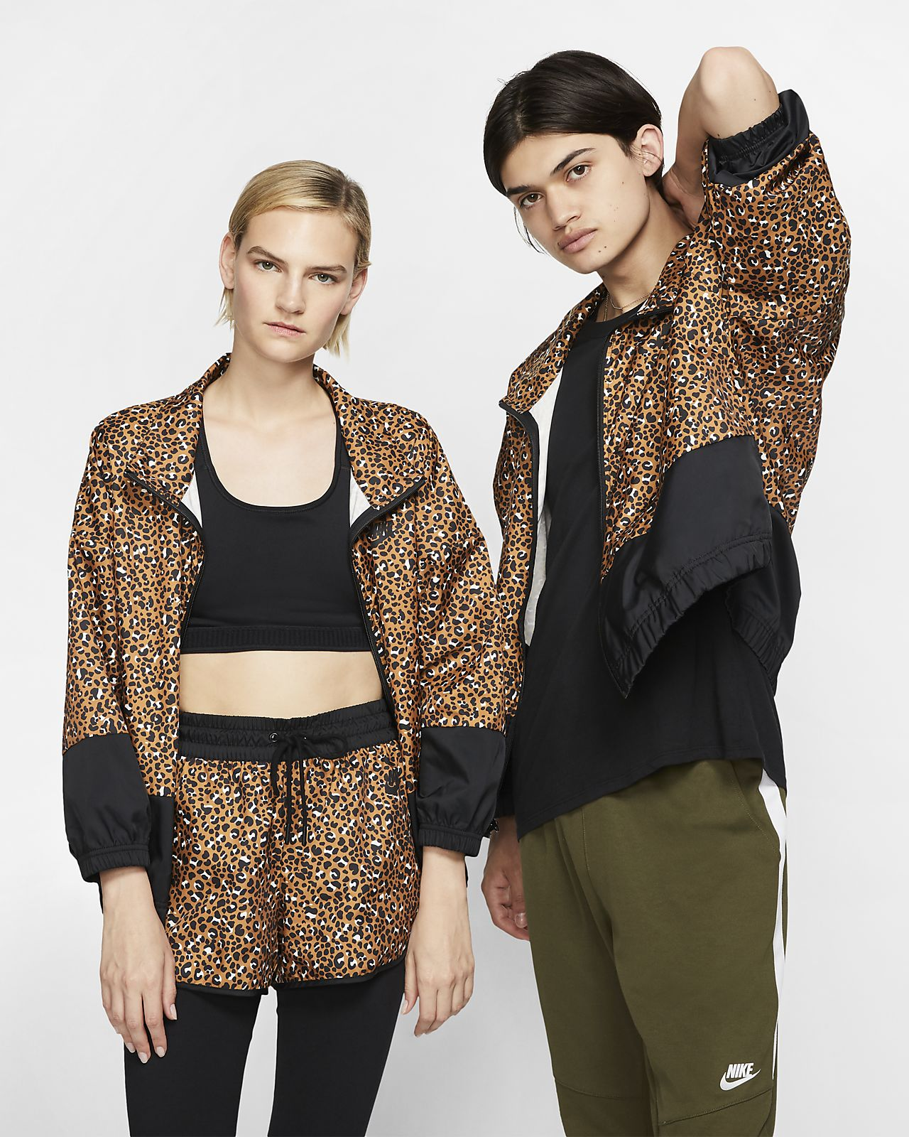 Nike Sportswear Animal Print Jacke aus Webmaterial