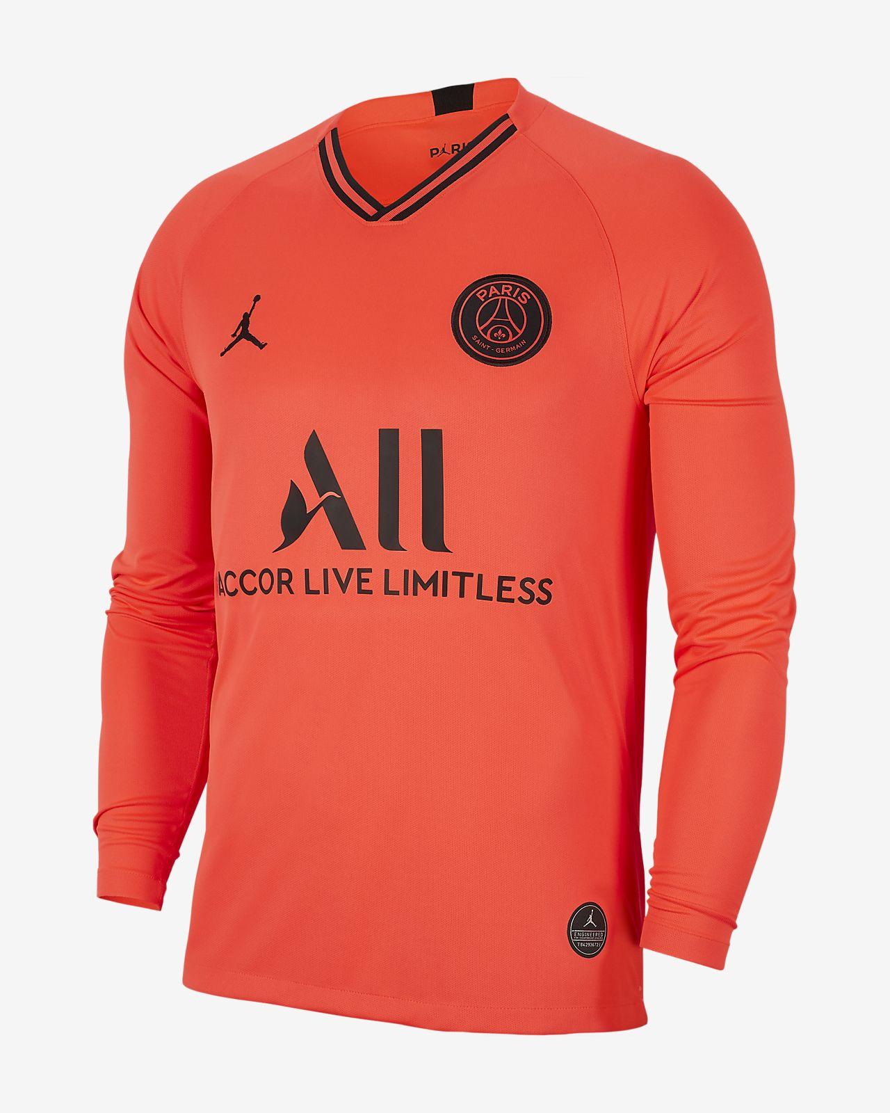 Langærmet Paris Saint-Germain 2019/20 udebane-fodboldtrøje til mænd