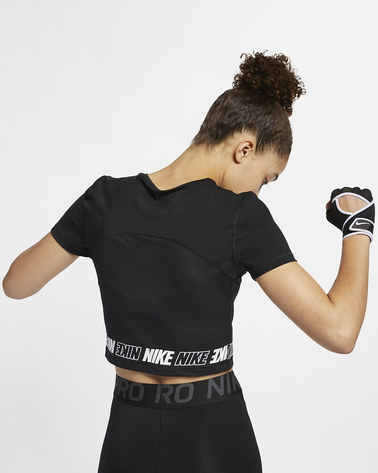 95f9c2101d473c Nike Pro Women s Short-Sleeve Crop Top. Nike.com DK