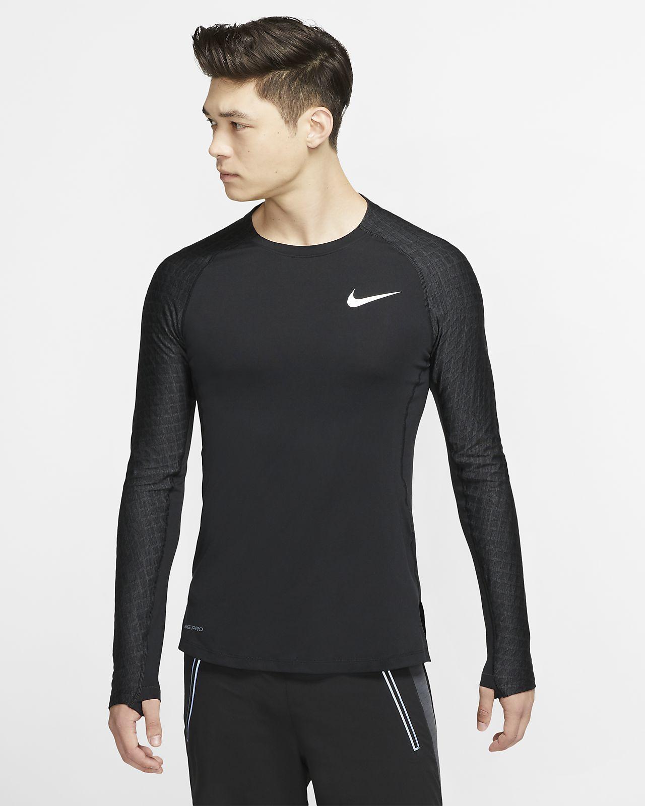 Nike Pro Trainingstop met lange mouwen voor heren
