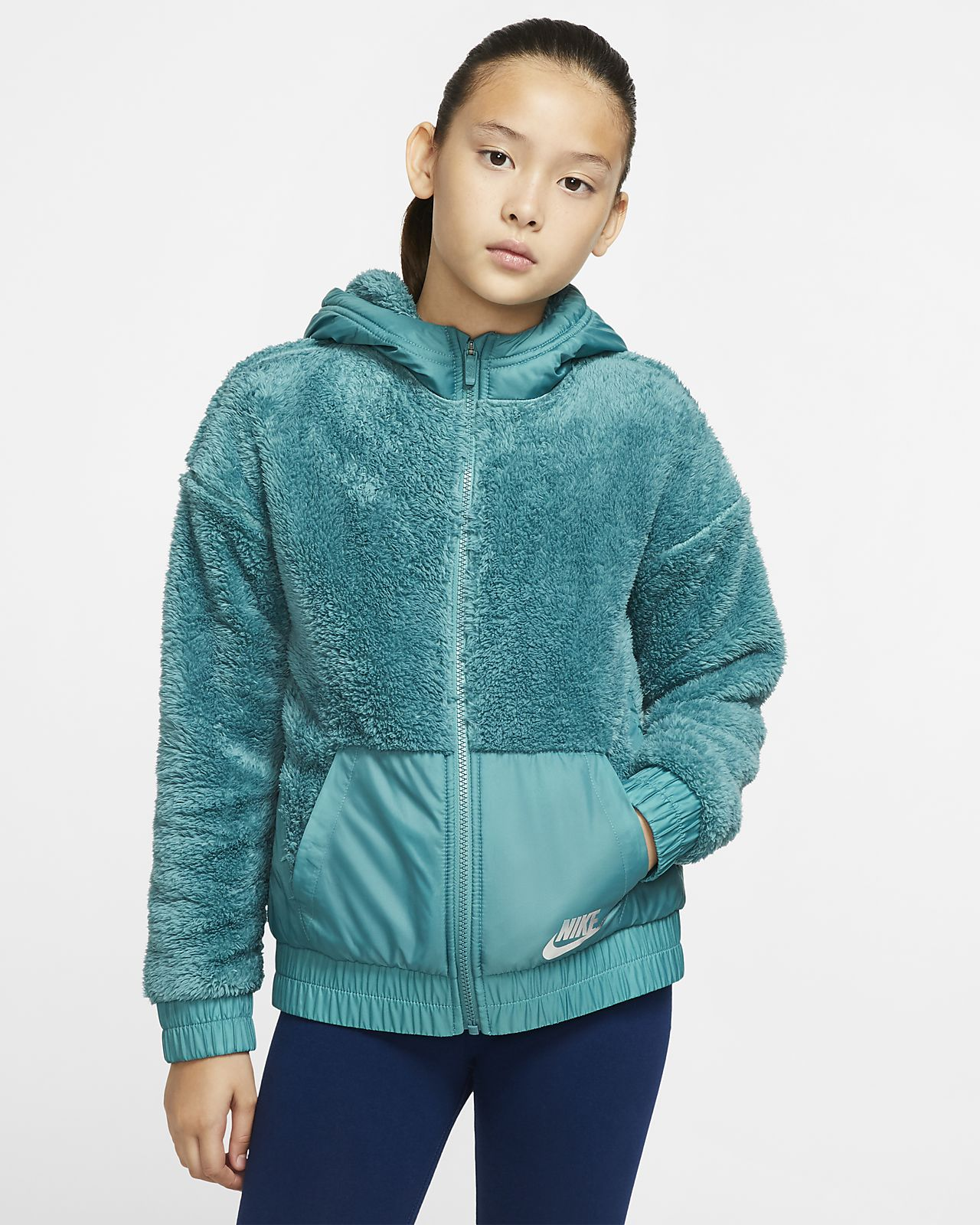 Nike Sportswear Big Kids' (Girls') Sherpa Jacket