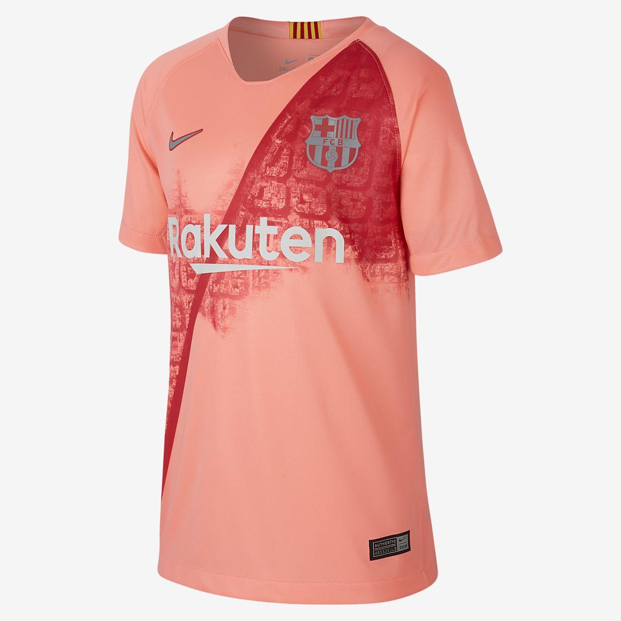 Camiseta de fútbol para niños talla grande alternativa Stadium del FC Barcelona  2018 19 1407909ca25