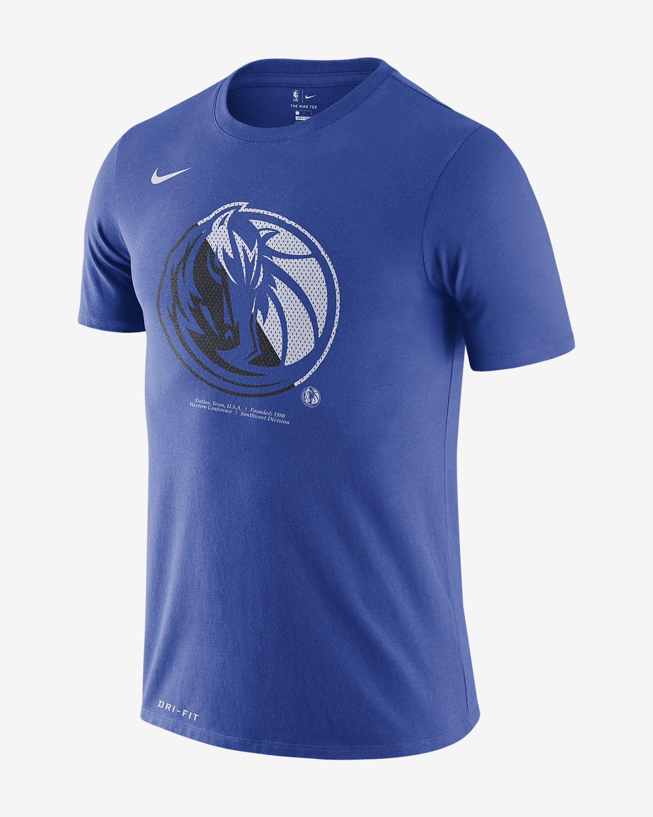 Męski T-shirt NBA Dallas Mavericks Nike Dri-FIT