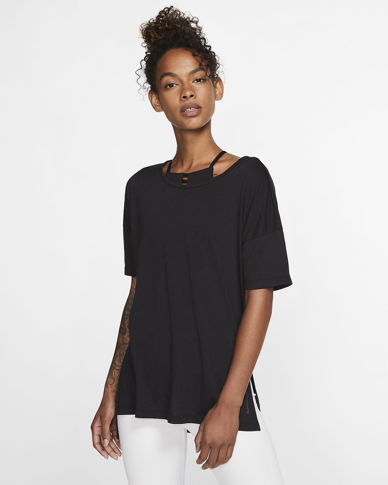 Damska koszulka z krótkim rękawem Nike Yoga