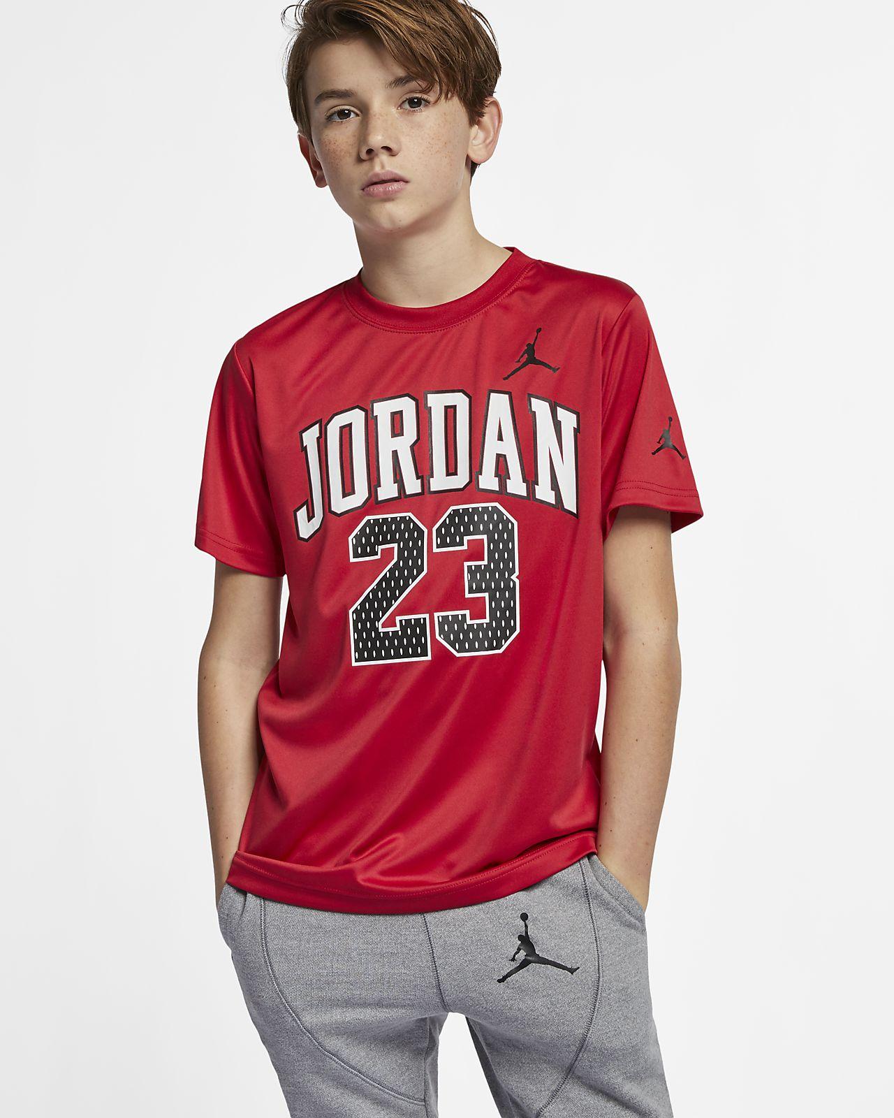 Jordan Dri-FIT 23-T-shirt med grafik til store børn