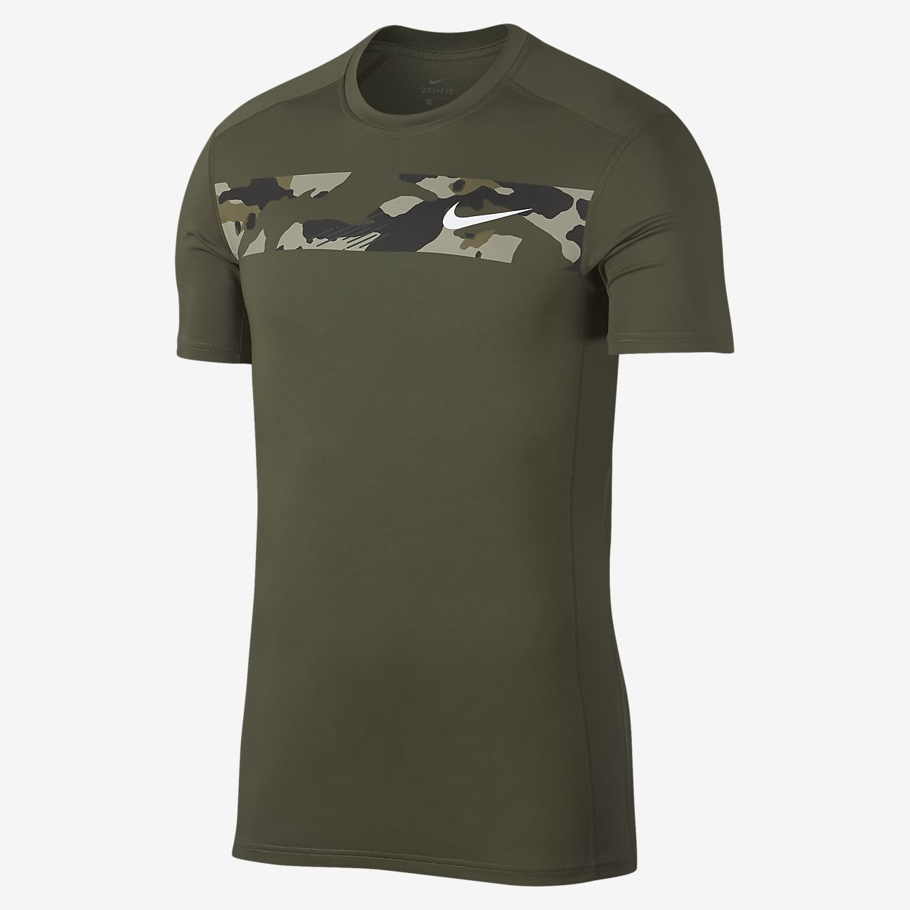 Nike 男款短袖迷彩訓練上衣