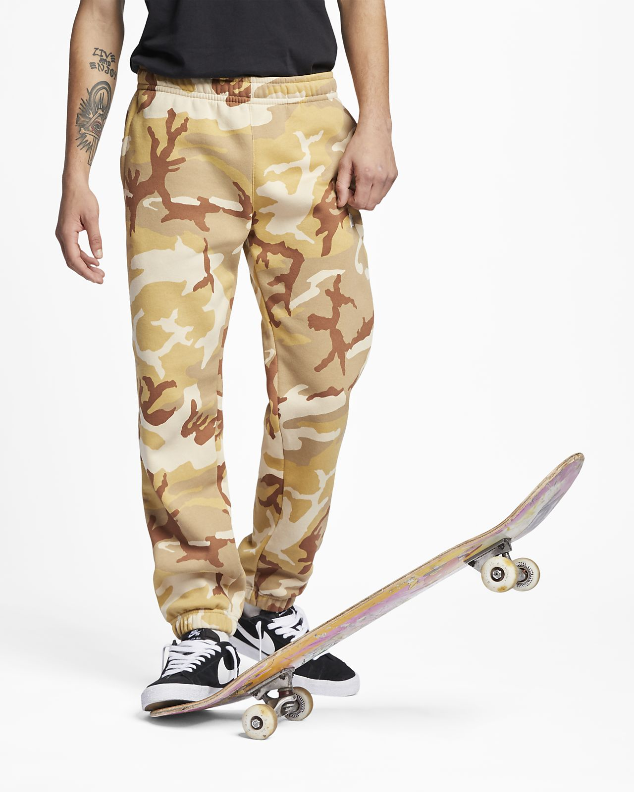 Pantalon de skateboard camouflage Nike SB Icon pour Homme