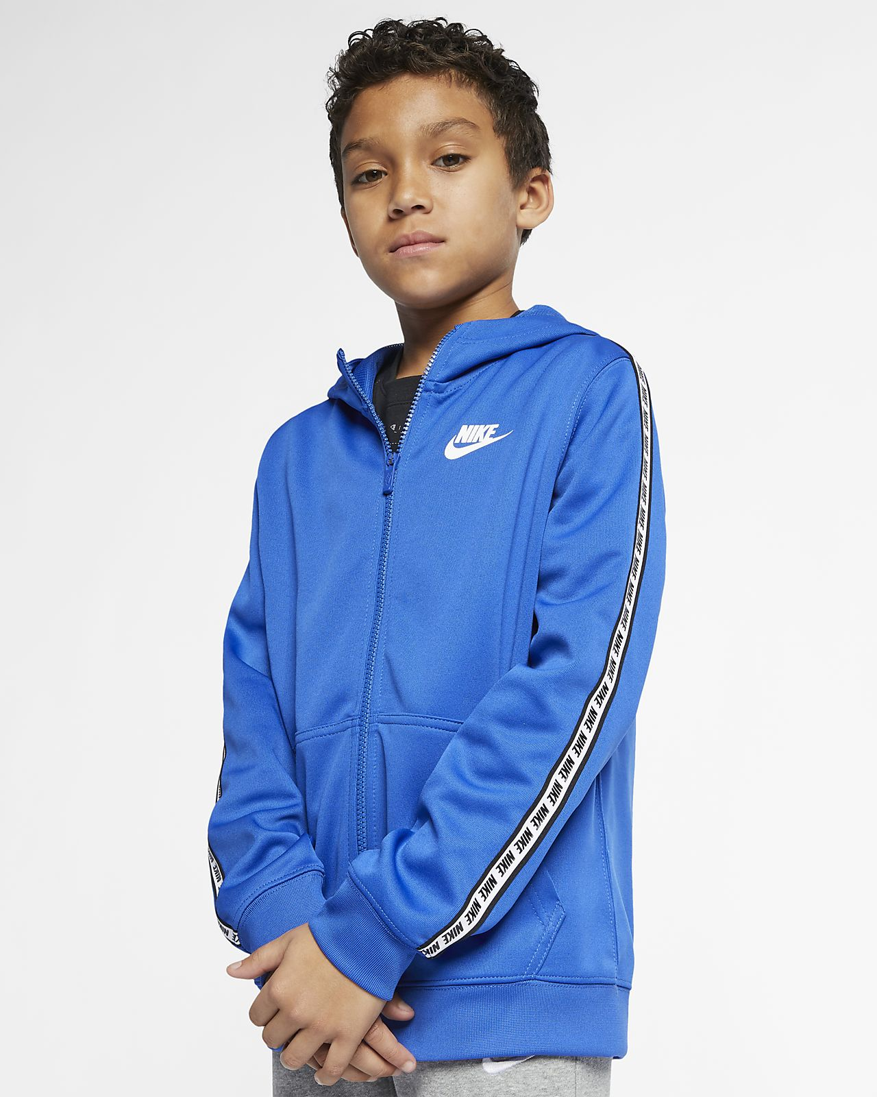 Sudadera con capucha de cierre completo para niño talla grande Nike Sportswear
