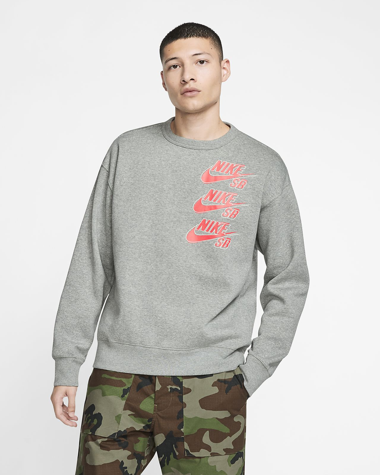Nike SB Icon Fleece-Skateboardoberteil für Herren