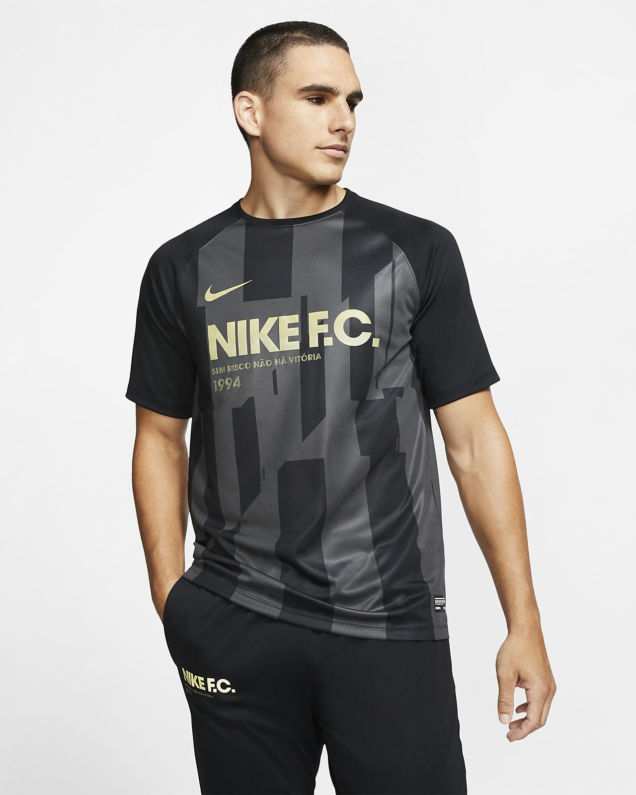 Kortærmet Nike F.C.-trøje til mænd