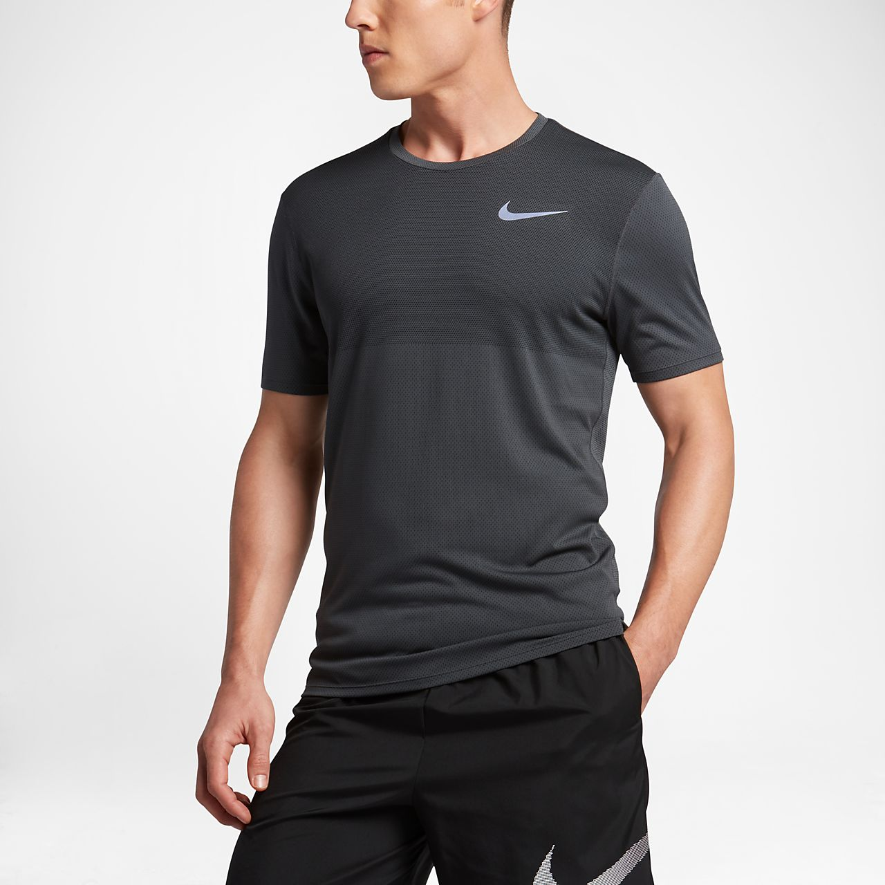 Nike Zonal Cooling Relay Men's Short Sleeve Running Top Anthracite