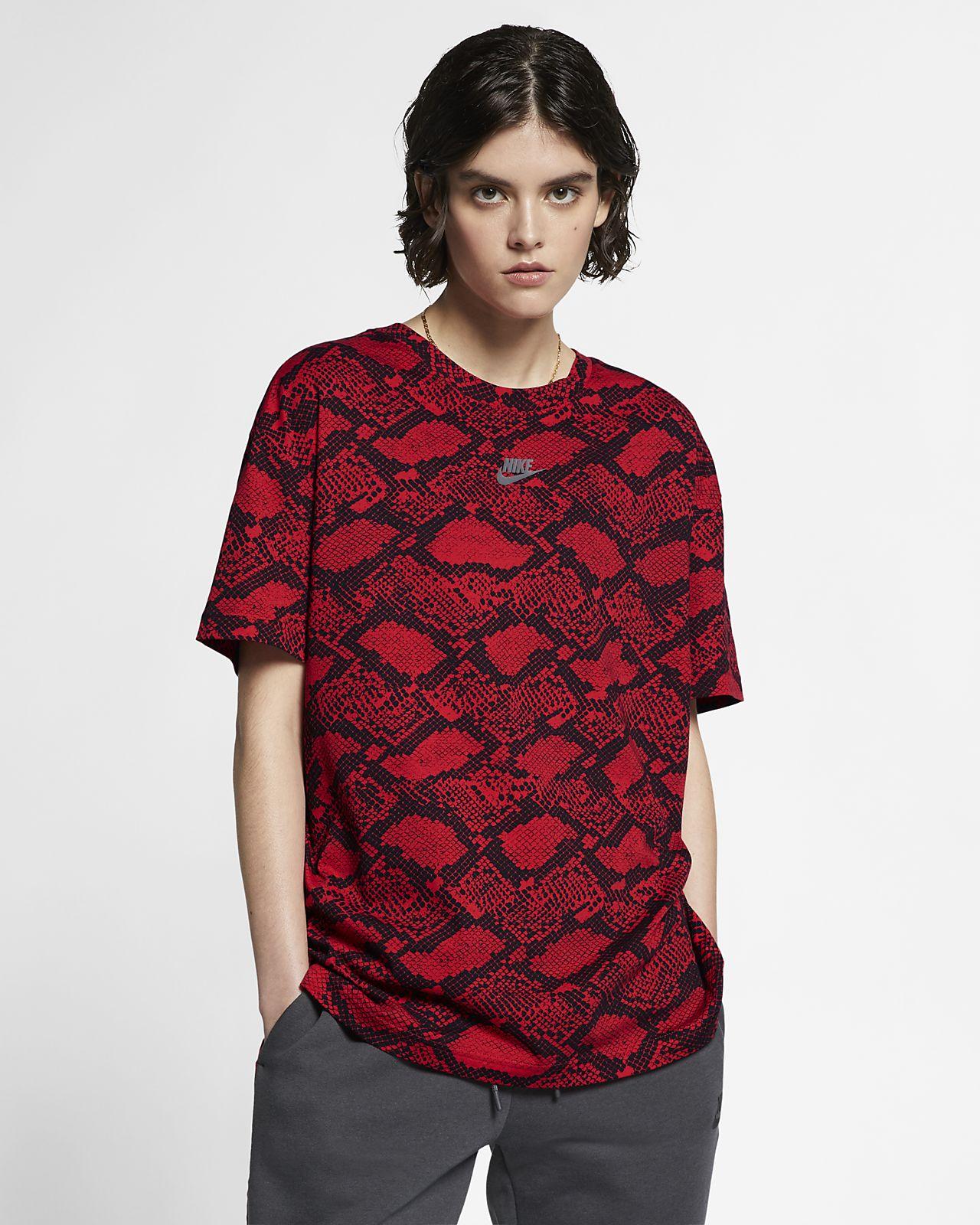 Nike Sportswear Camiseta con estampado animal - Mujer