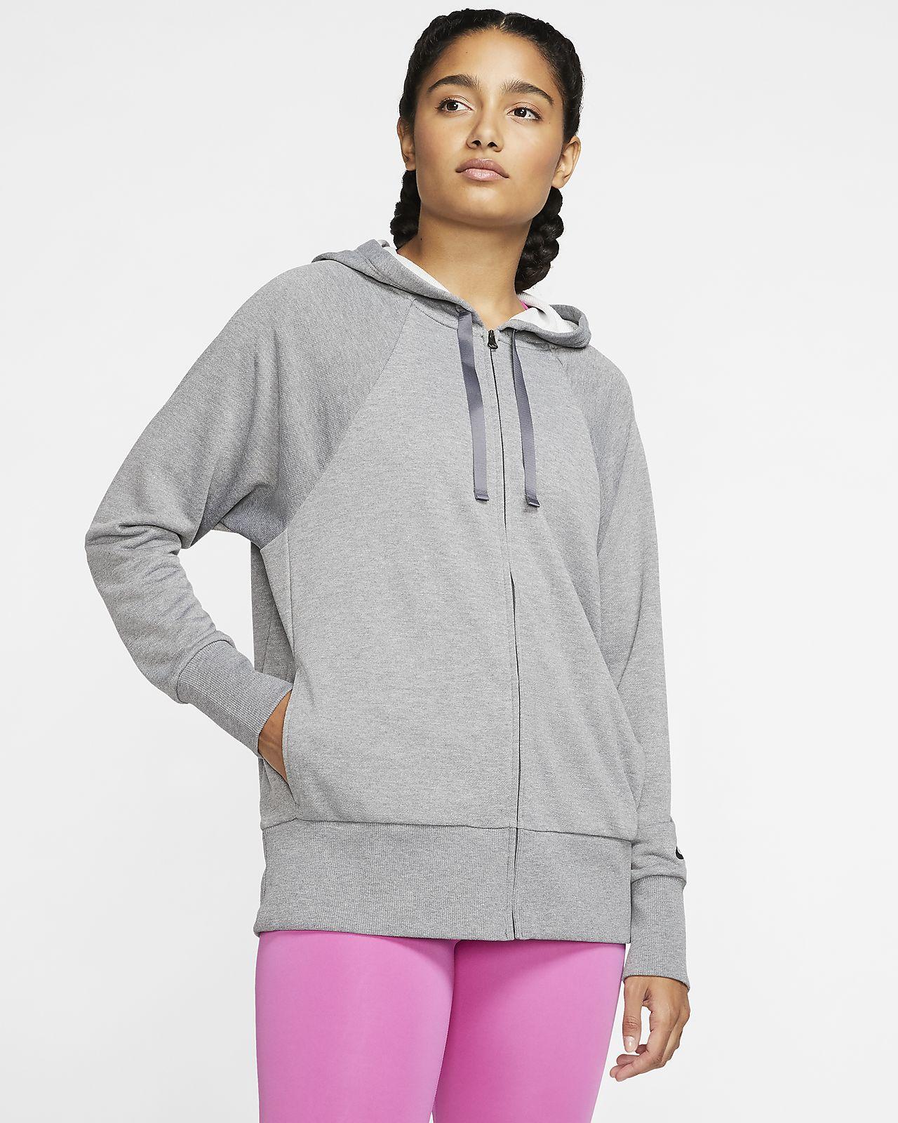 Nike Dri-FIT Get Fit-træningshættetrøje i fleece med lynlås til kvinder