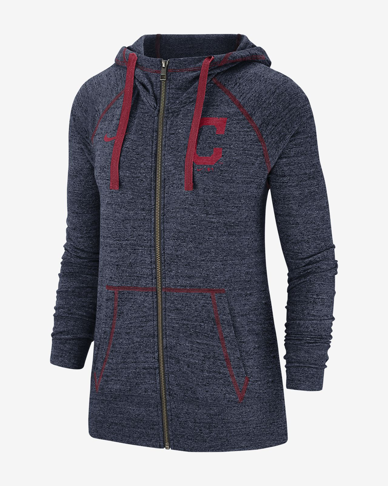 Nike Gym Vintage (MLB Indians) Women's Full-Zip Hoodie