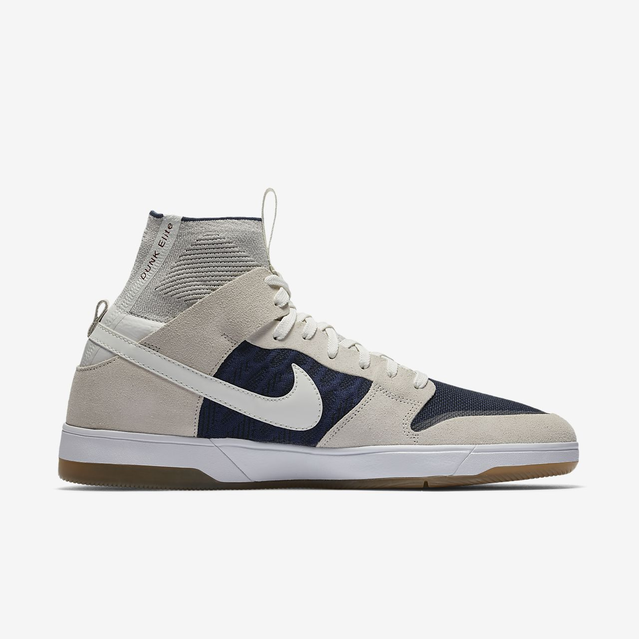 Nike SB Dunk Elite High QS Men's Skateboarding Shoes White kK7162N