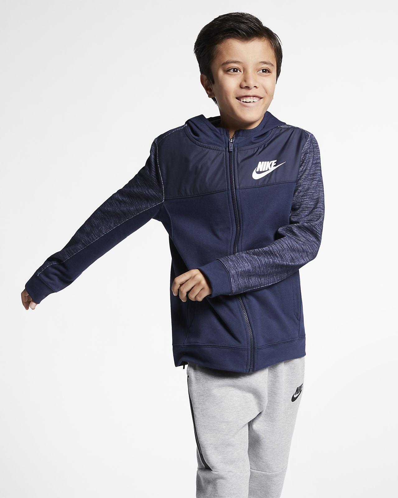 Huvtröja med hel dragkedja Nike Sportswear Advance 15 för killar