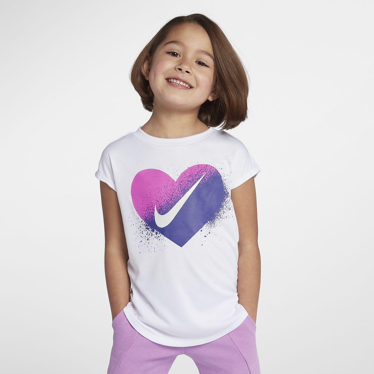nike dri-fit little kids' (girls') short sleeve top. nike