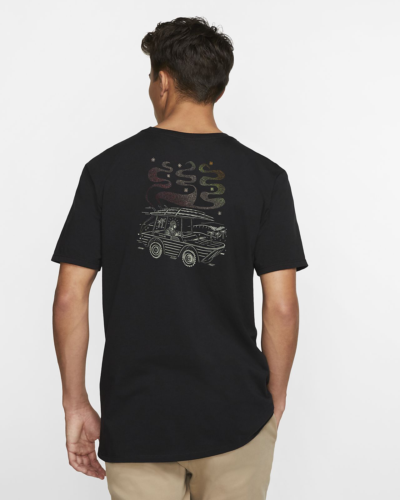 T-shirt Hurley Premium Search And Destroy Premium Fit för män