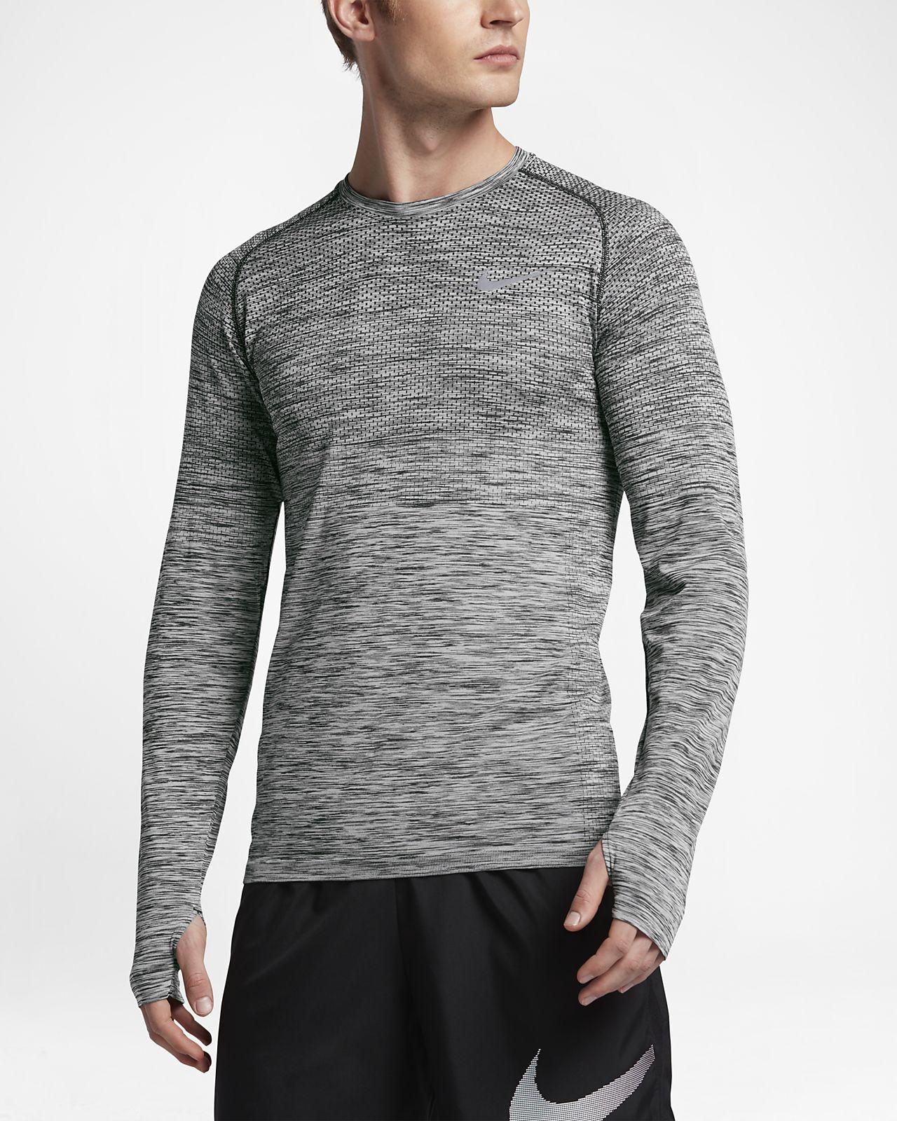 ... Nike Dri-FIT Knit Men's Long-Sleeve Running Top