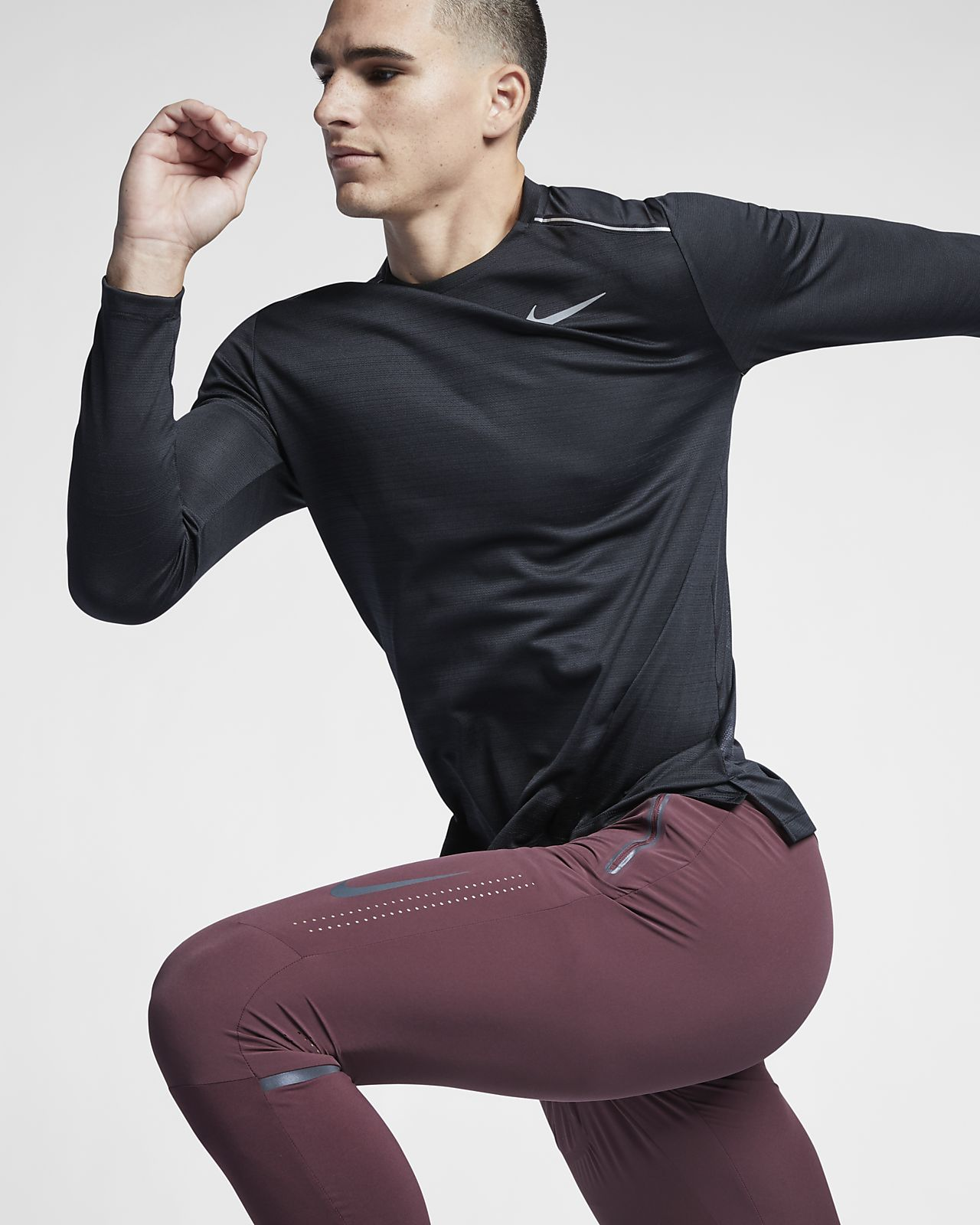 Nike Dri-FIT Miler langermet løpeoverdel til herre
