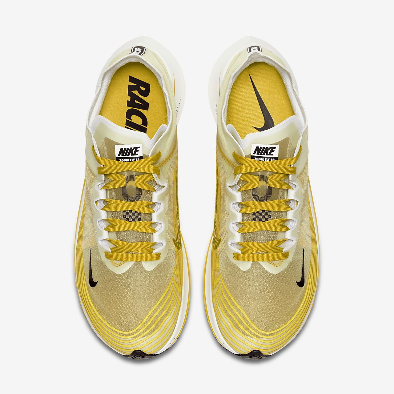 12bed81d451f4 Nike Zoom Fly SP Dark Citron Yellow White Men Running Shoes Sneakers AJ9282- 300 Men s Shoes