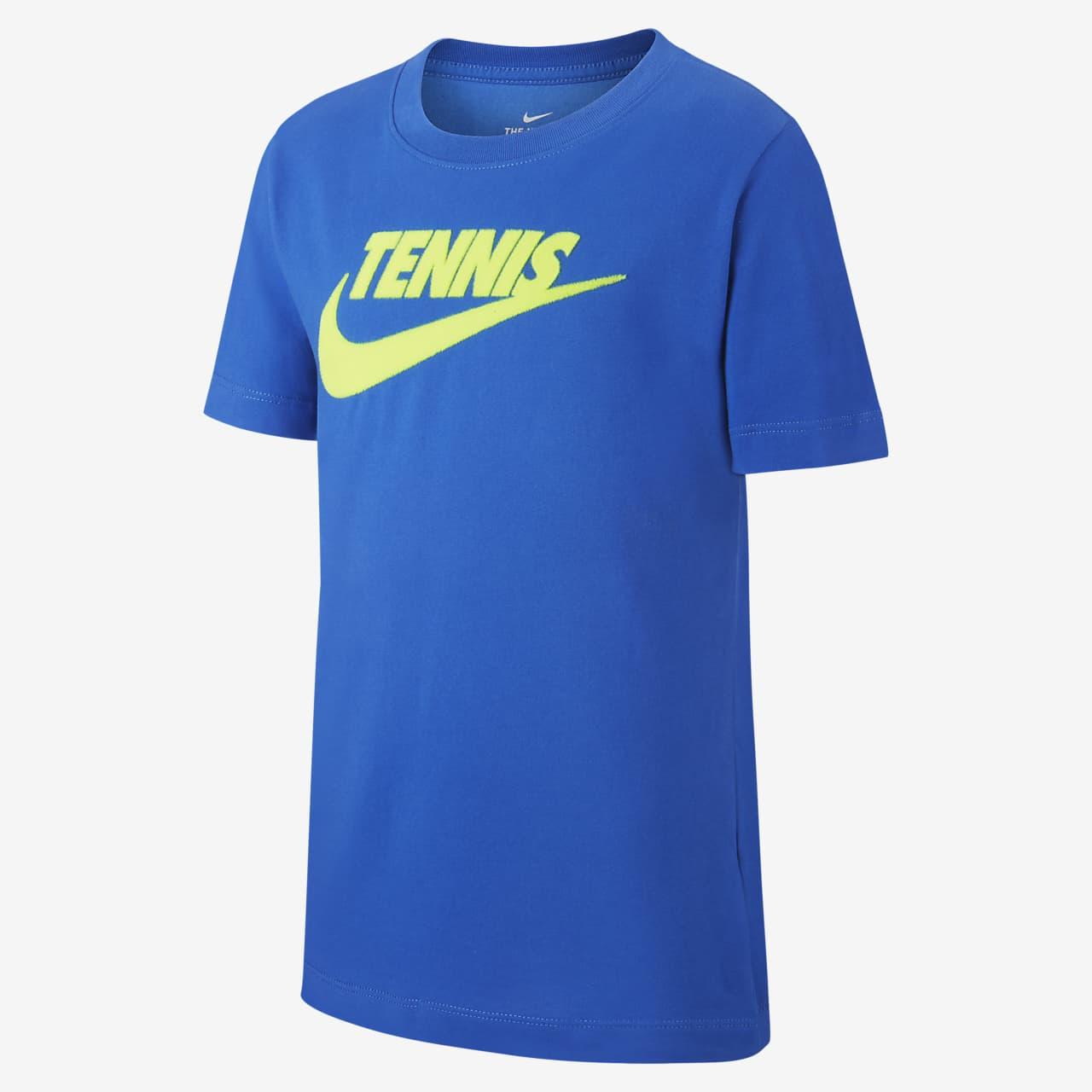 NikeCourt Dri-FIT Tennisshirt met graphic voor jongens