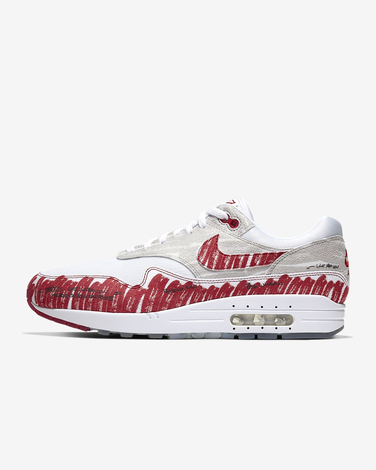 Nike Air Max 1 *Sketch To Shelf* (White University Red Neutral Grey)