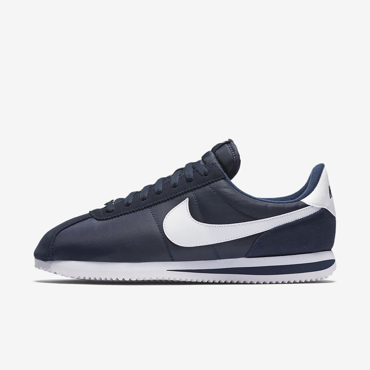 Nylon Mens Cortez Shoes Nike Light Blue-Black