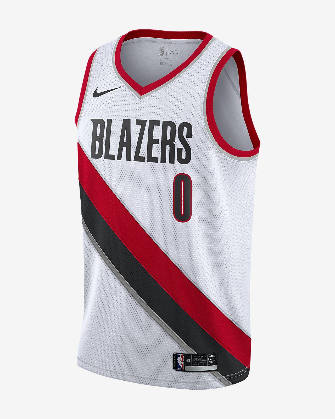Maillot connecté Nike NBA Damian Lillard Association Edition Swingman (Portland Trail Blazers) pour Homme