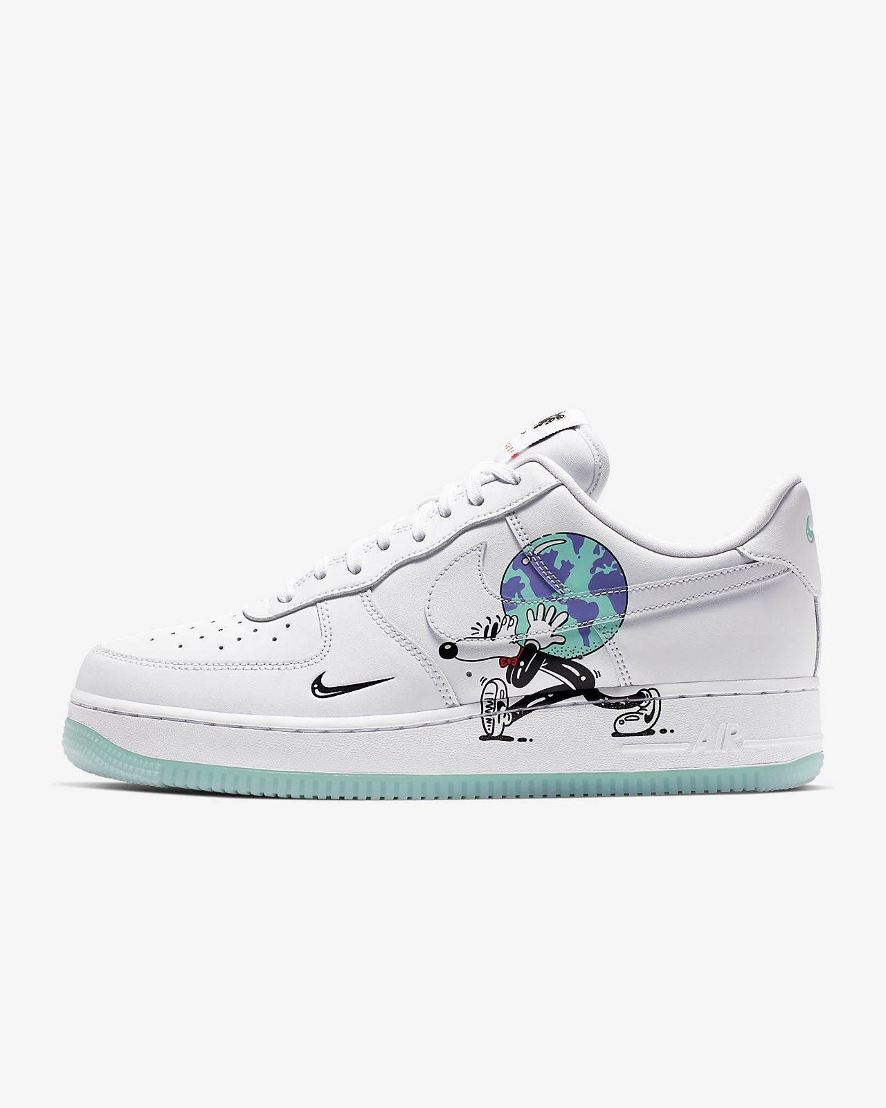 the latest 551c1 bfb5d Scarpa Nike Air Force 1 QA FlyLeather con almeno il 50% di fibre di pelle