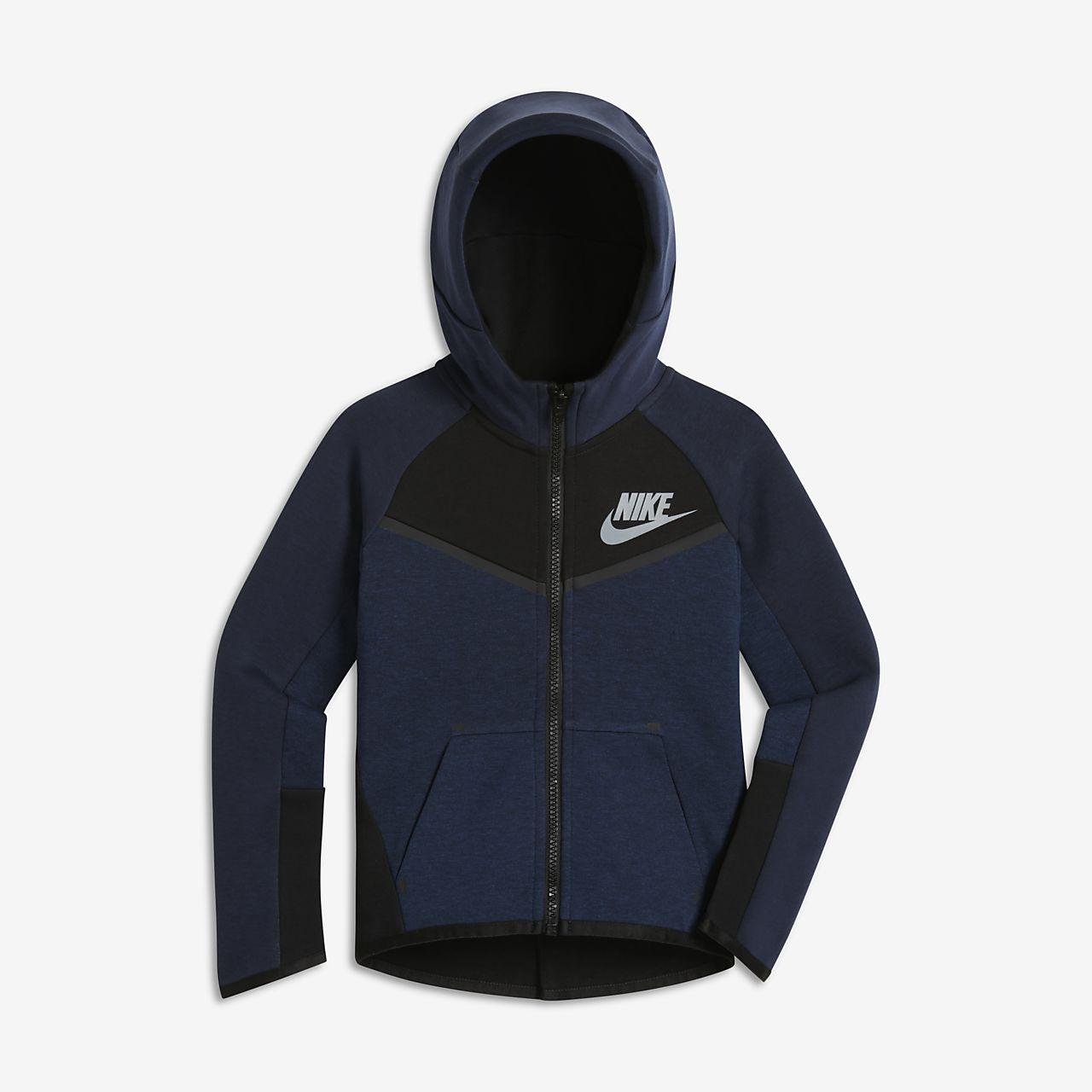 Μπλούζα με κουκούλα Nike Sportswear Tech Fleece για μικρά αγόρια