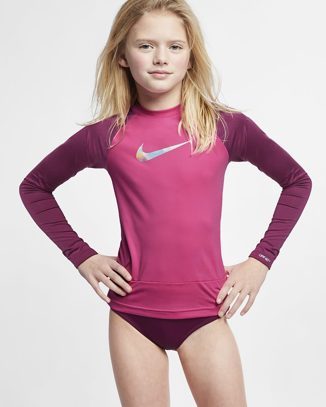 650e726d Nike Flash Big Kids' (Girls') Long-Sleeve Hydroguard. Nike.com