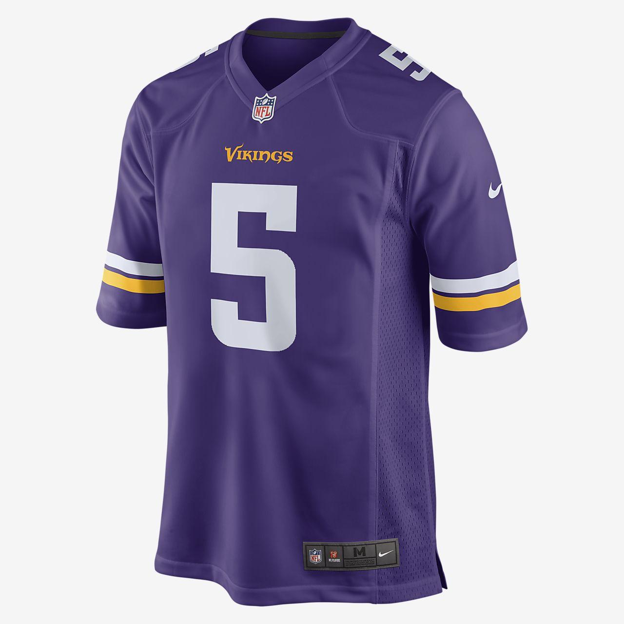 Męska domowa koszulka meczowa do futbolu amerykańskiego NFL Minnesota Vikings (Teddy Bridgewater)