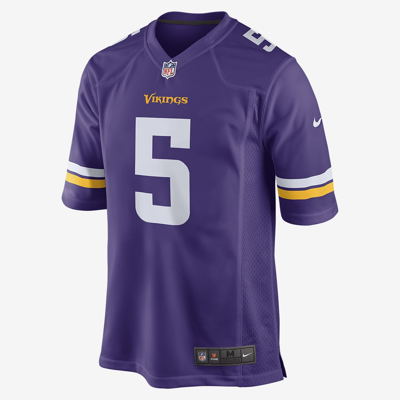 d1277ab5 NFL Minnesota Vikings (Teddy Bridgewater) Men's American Football Home Game  Jersey