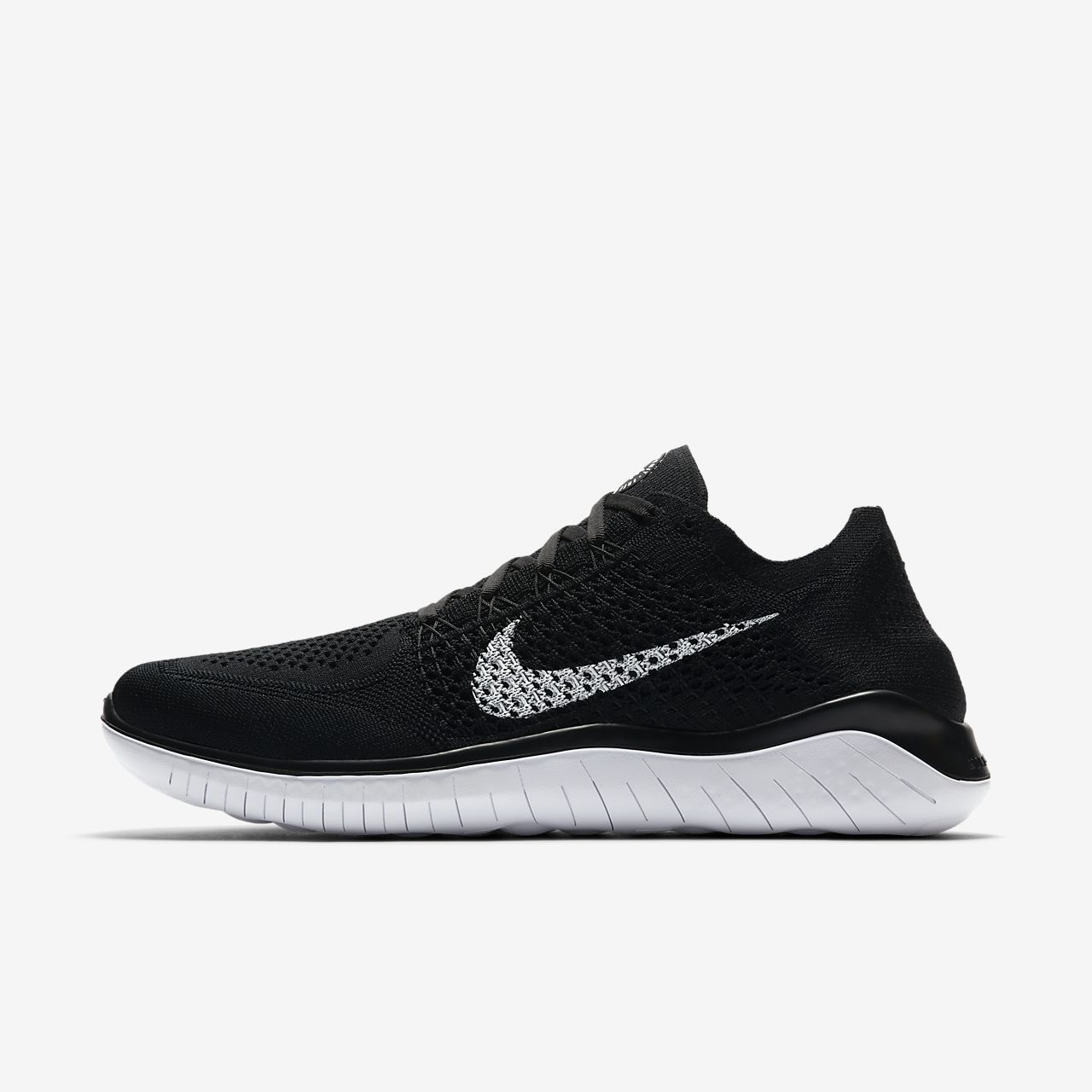 Marques Chaussure homme Nike homme Nike Free Rn Flyknit 2018 Black/anthracite