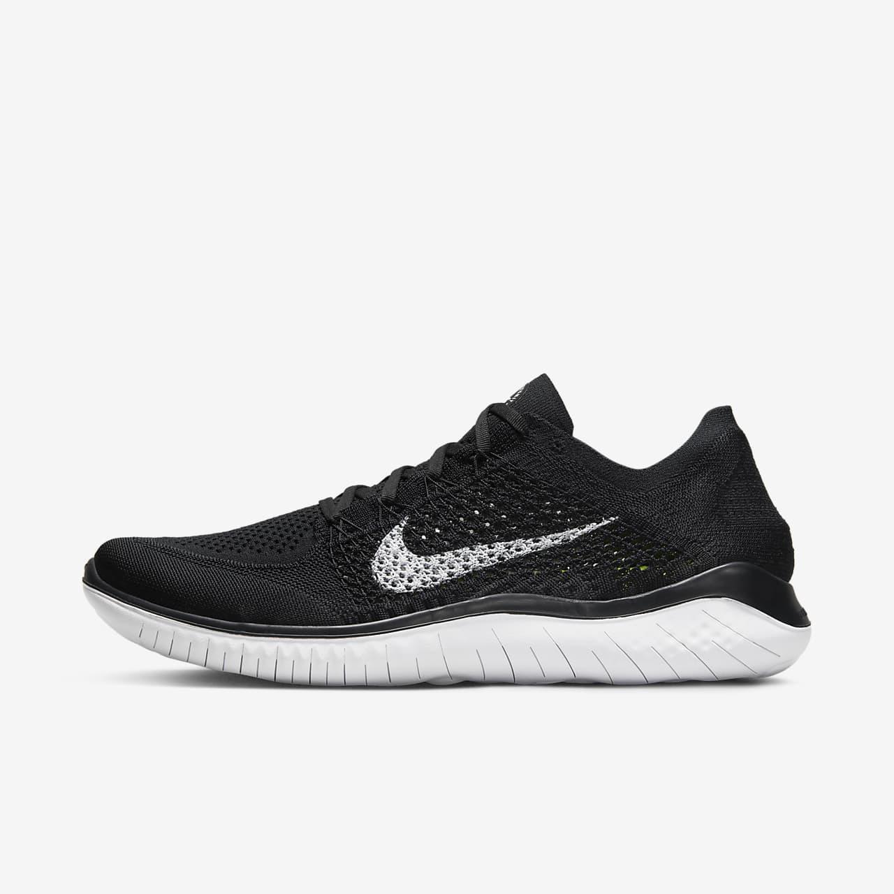 Nike Free RN Flyknit 2018 NERO ANTRACITE Uomo Scarpe da Ginnastica tutte le