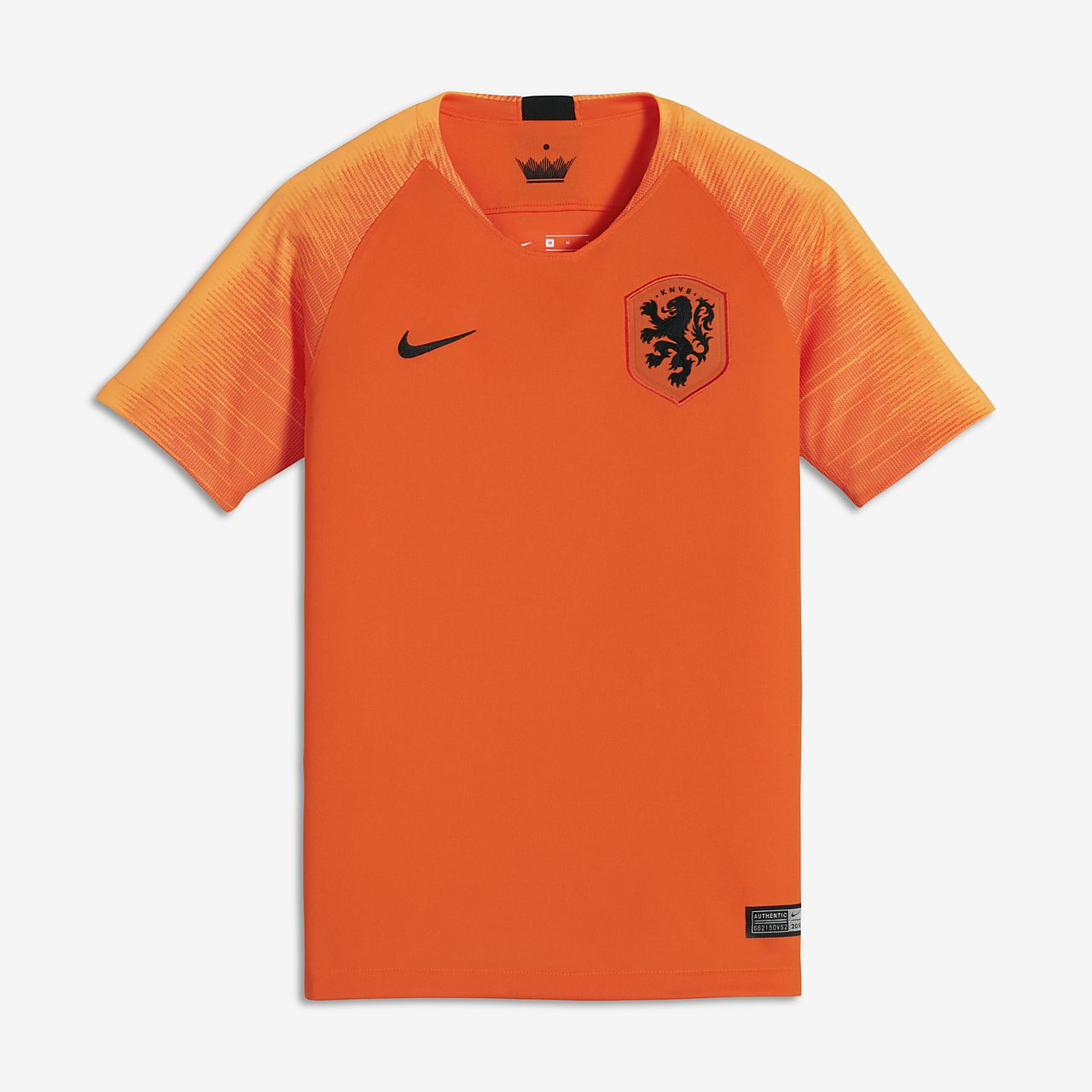 Camiseta de fútbol para niños talla grande 2018 Netherlands Stadium Home