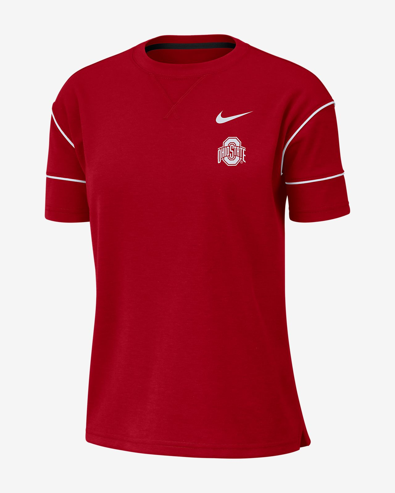 Nike College Breathe (Ohio State) Women's Short-Sleeve Top