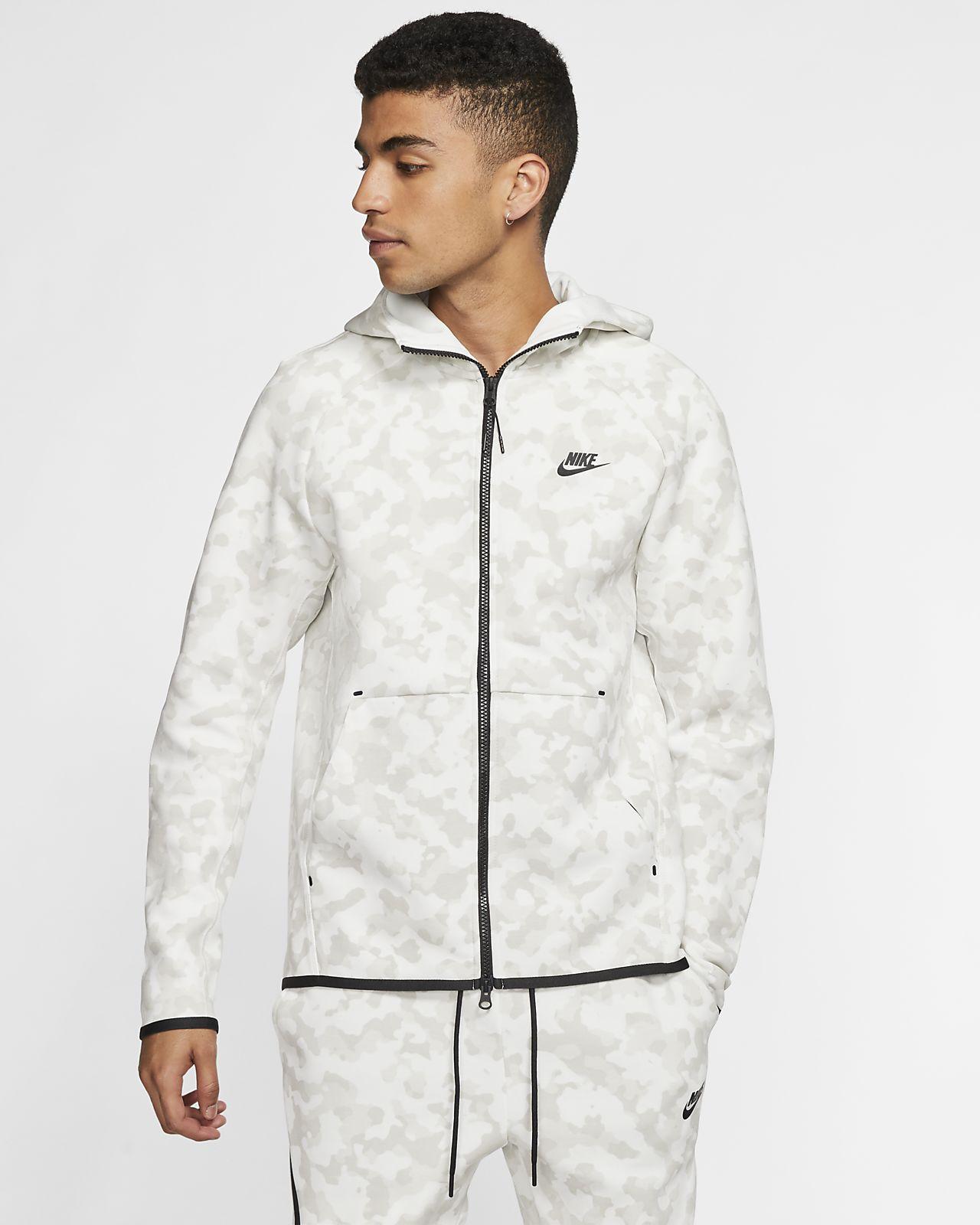 Nike Sportswear Tech Fleece Herren Hoodie mit durchgehendem Reißverschluss und Print