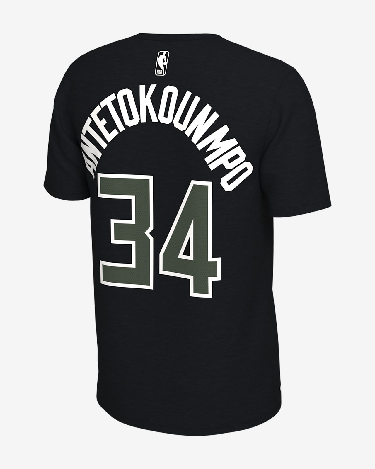 fd8afabbf09 Giannis Antetokounmpo Milwaukee Bucks Nike Dri-FIT Men s NBA T-Shirt ...