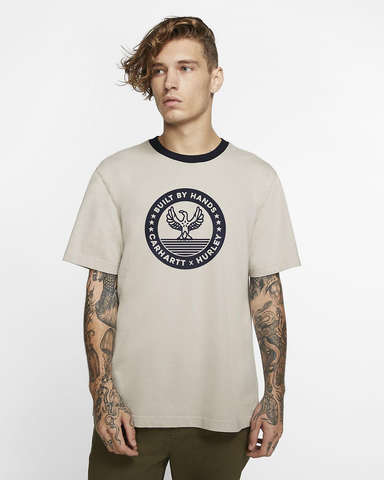 Hurley x Carhartt BFY Built Ringer T-shirt met premium pasvorm voor heren