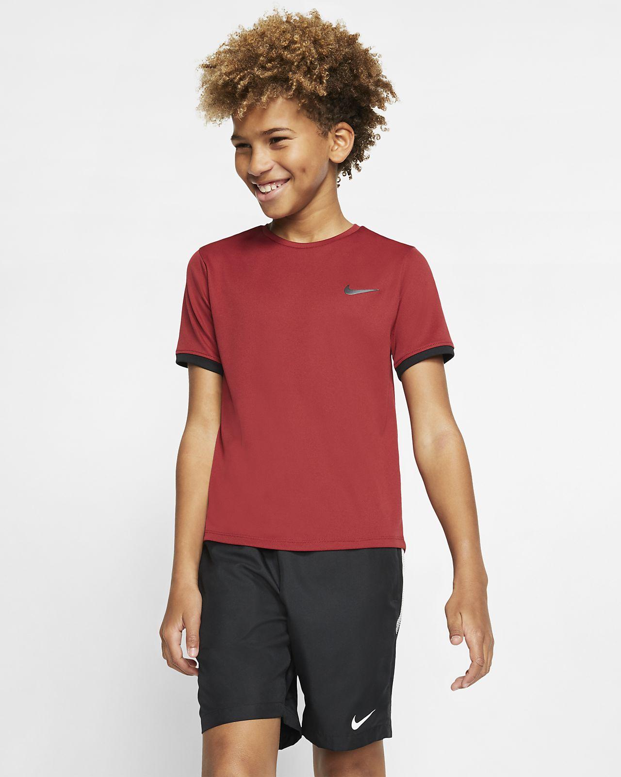Koszulka do tenisa z krótkim rękawem dla dużych dzieci (chłopców) NikeCourt Dri-FIT