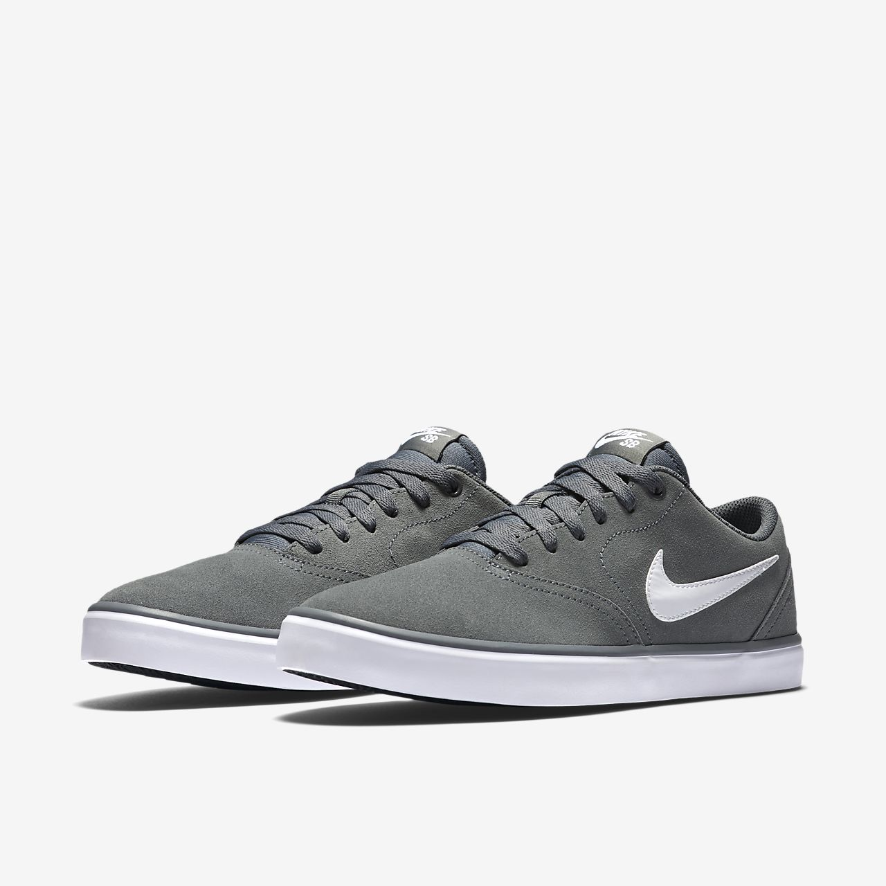 Nike SB Charge Suede Sko Cool GreyWhite Cool Grey White