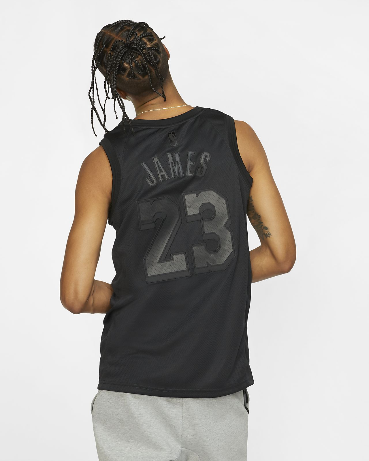 ba71b4d70ea ... LeBron James MVP Swingman (Los Angeles Lakers) Men's Nike NBA Connected  Jersey