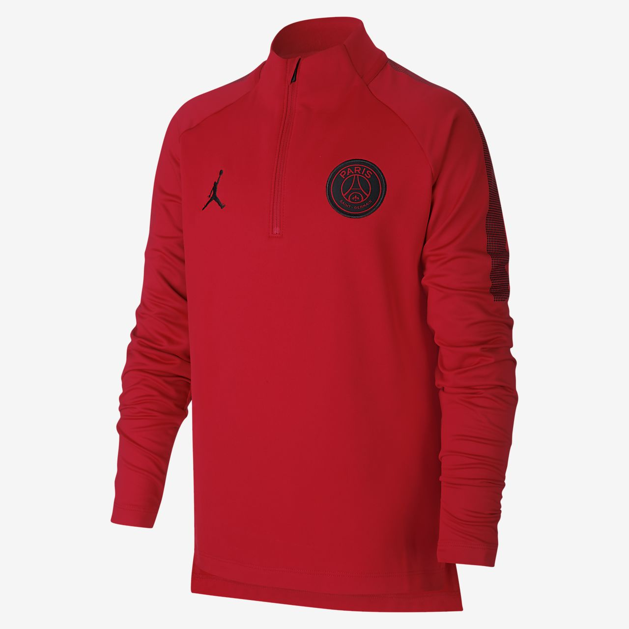 Paris Saint-Germain Squad Older Kids' 1/4-Zip Football Top