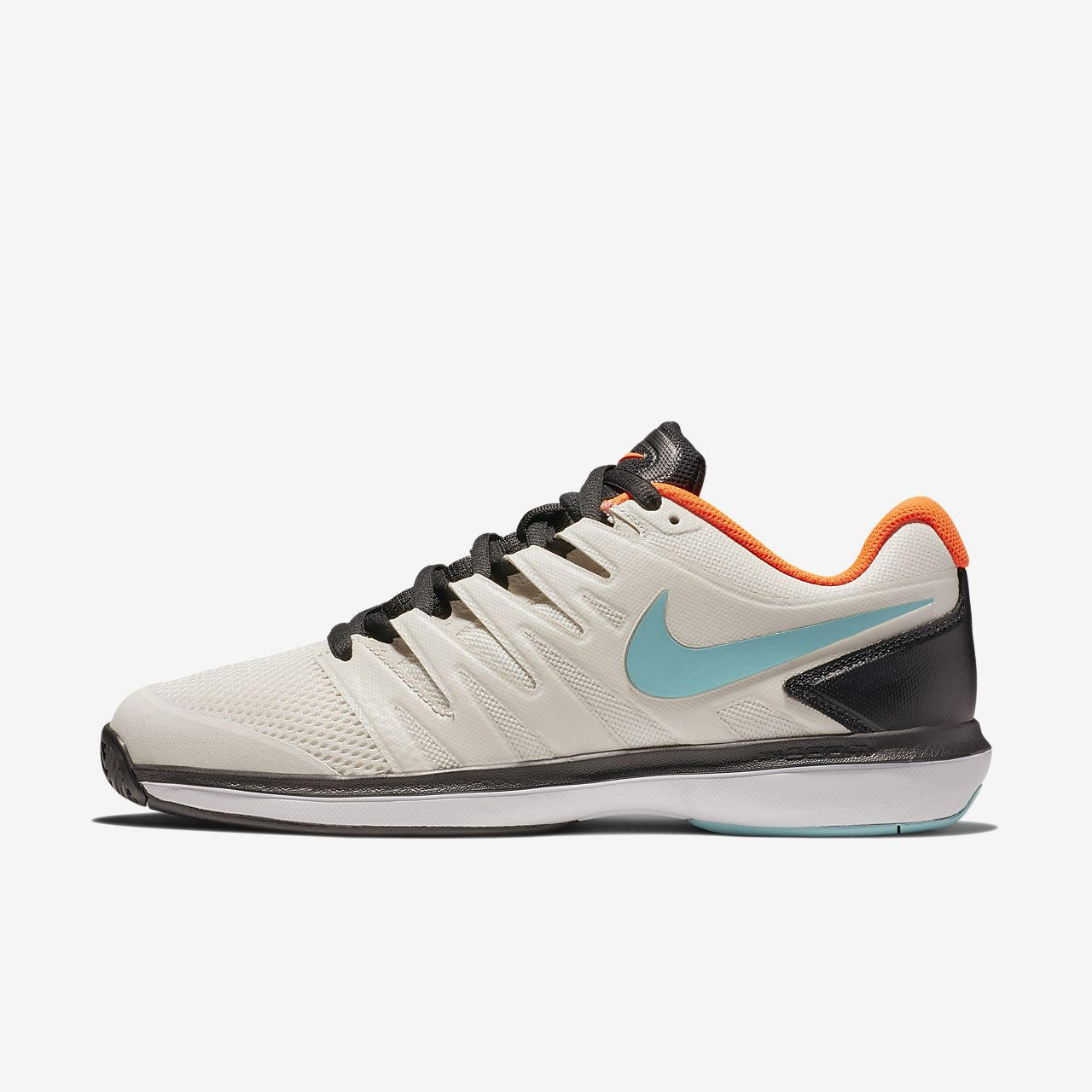 Nike Performance AIR ZOOM PRESTIGE CLY - Outdoor tennis shoes - white/black JuF62PR