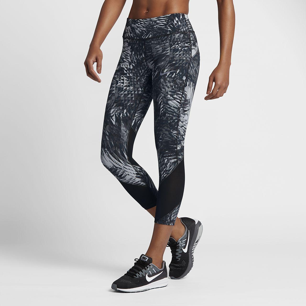 กางเกงวิ่งสี่ส่วนผู้หญิง Nike Power Epic Lux